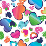 Pretty rainbow hearts Royalty Free Stock Images