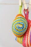 Pretty ramie handbags Stock Image