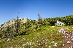 Pretty range of mountains, outdoors Stock Image