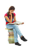 Pretty reader Royalty Free Stock Image