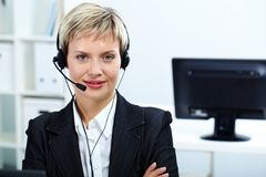 Pretty receptionist Stock Photo