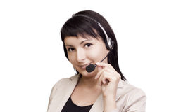 Pretty Receptionist Stock Images