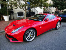 Pretty Red Ferrari Stock Photos