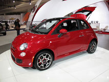 Pretty Red Fiat Stock Photography