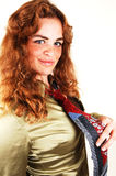 Pretty red haired girl. royalty free stock images