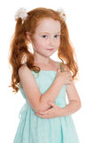 Pretty red haired girl Royalty Free Stock Photos
