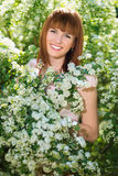 Pretty red-haired woman Stock Image