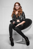 Pretty red-haired woman Royalty Free Stock Images