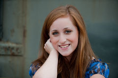 Pretty red-headed teen girl Stock Photos