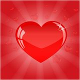 Pretty red heart for valentines day Royalty Free Stock Photography