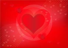 Pretty red heart for valentines day Stock Photos