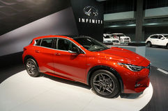 Pretty Red Infiniti Crossover Royalty Free Stock Photo