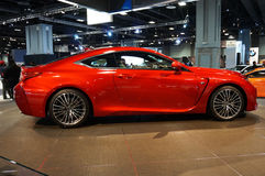 Pretty Red Lexus RC F Sports Car Royalty Free Stock Images