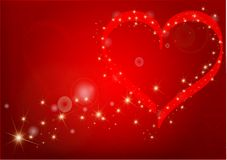 Pretty red valentine's hearts Stock Photo