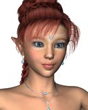 Pretty redhead fairy in closeup Royalty Free Stock Image