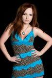 Pretty Redhead Girl Stock Image