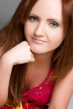 Pretty Redhead Girl Stock Images