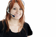 Pretty Redhead Receptionist Royalty Free Stock Photo