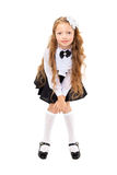 Pretty redhead schoolgirl isolated on a white background Stock Image