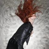 Pretty redhead woman. Stock Photo