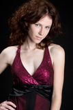 Pretty Redhead Woman Stock Image