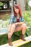 Pretty Redhead Woman Stock Photo