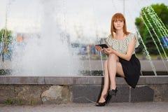 Pretty redhead woman Royalty Free Stock Photo