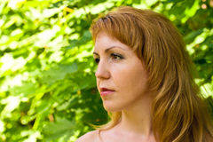Pretty redhead  young woman Royalty Free Stock Photos