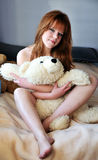 Pretty redheaded girl Royalty Free Stock Photo