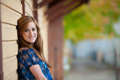 Pretty redheaded teen girl Stock Photography