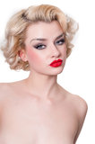 Retro blond beauty  portrait Royalty Free Stock Photos