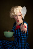Pretty Retro Blonde Woman Stock Photos
