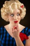 Pretty Retro Blonde Woman Royalty Free Stock Photo