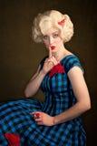 Pretty Retro Blonde Woman Stock Image