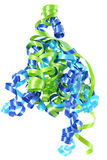 Pretty ribbons. Birthday ribbons in blue and green Royalty Free Stock Photo