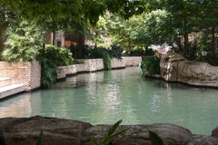 Pretty river walk in San antonio Stock Images