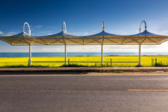 Pretty roadside station. Passing by a beautiful roadside station, the morning sun shining above, looks so beautiful Royalty Free Stock Photography