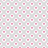 Pretty romantic seamless vector pattern with hearts and stripes stock illustration