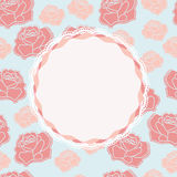 Pretty rose design with vacant central cartouche Stock Photo