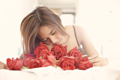 Pretty with roses d Royalty Free Stock Images