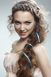 Pretty russian woman Stock Images