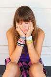 Pretty sad teenage girl Royalty Free Stock Image