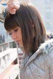 Pretty sad young girl posing Royalty Free Stock Photo