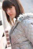 Pretty sad young girl posing Stock Photography