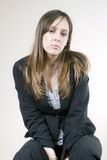 Pretty sad young woman, thinking Stock Photography