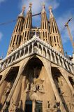 Pretty Sagrada Familia Church. Photo of sagrada familia church in barcelona spain designed by architect antonio gaudi. It is still under construction and should royalty free stock photos