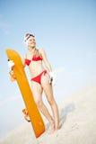 Pretty sandboarder Royalty Free Stock Photos