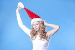 Pretty Santa girl Royalty Free Stock Image