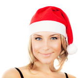 Pretty Santa girl Stock Images