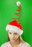 Pretty Santa girl Royalty Free Stock Images